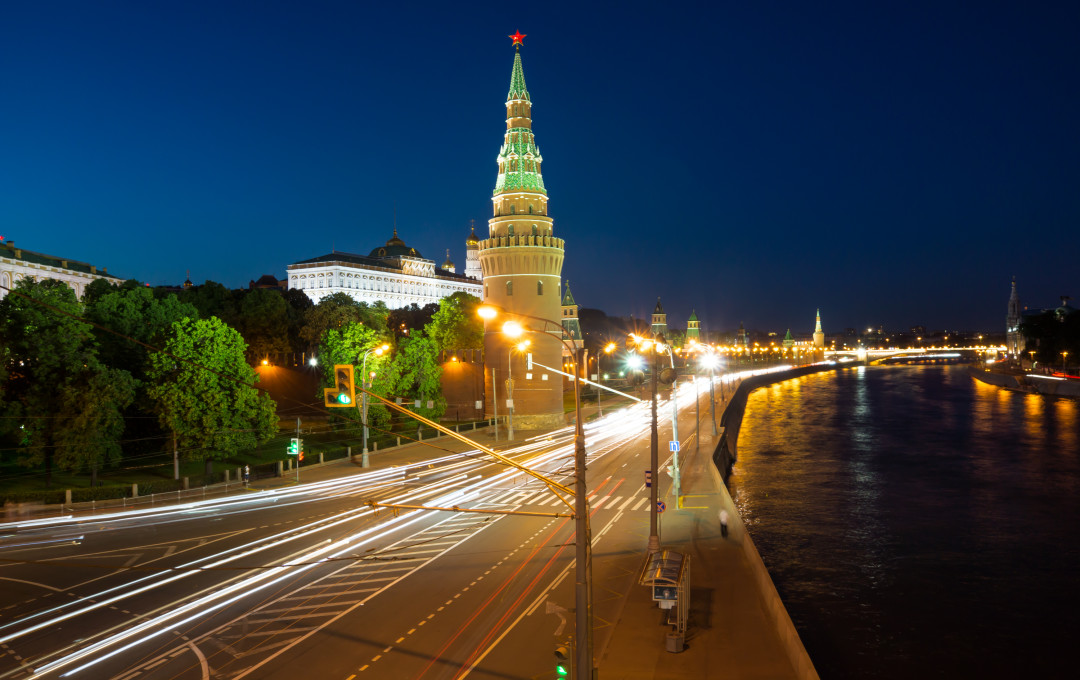 The Kremlin in Moscow in the evening