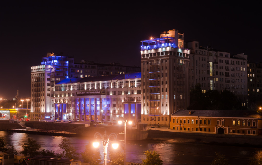 House on embankment in Moscow