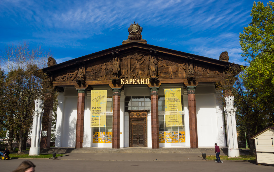 The Pavilion of the Republic of Karelia-built in 1954; F.I. Rehmukov, A.ya. Reznichenko.