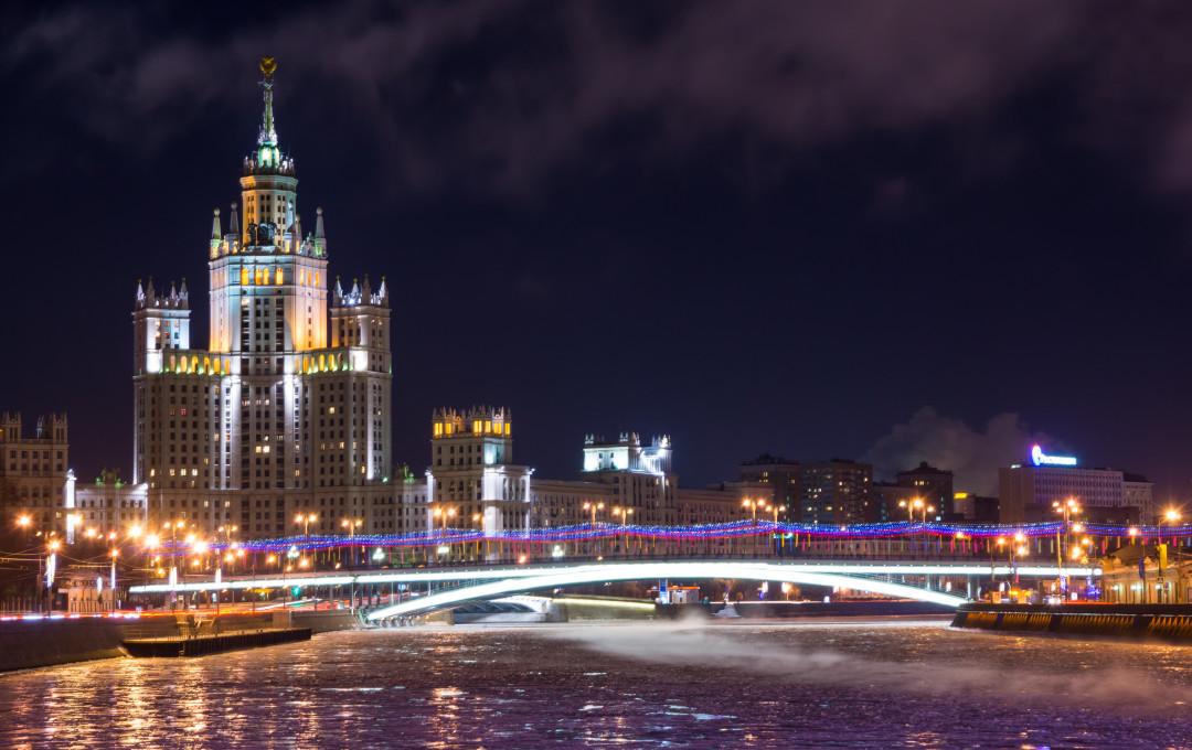 Stalin skyscraper on kotelnicheskaya Quay