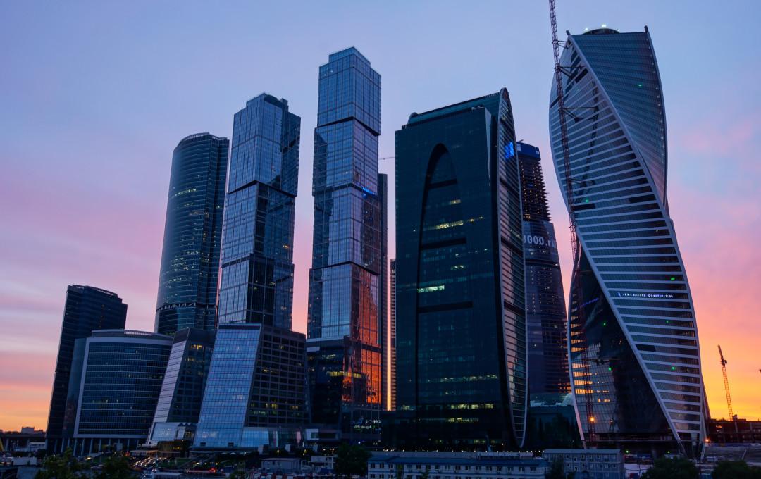 Noche de la ciudad de Moscú