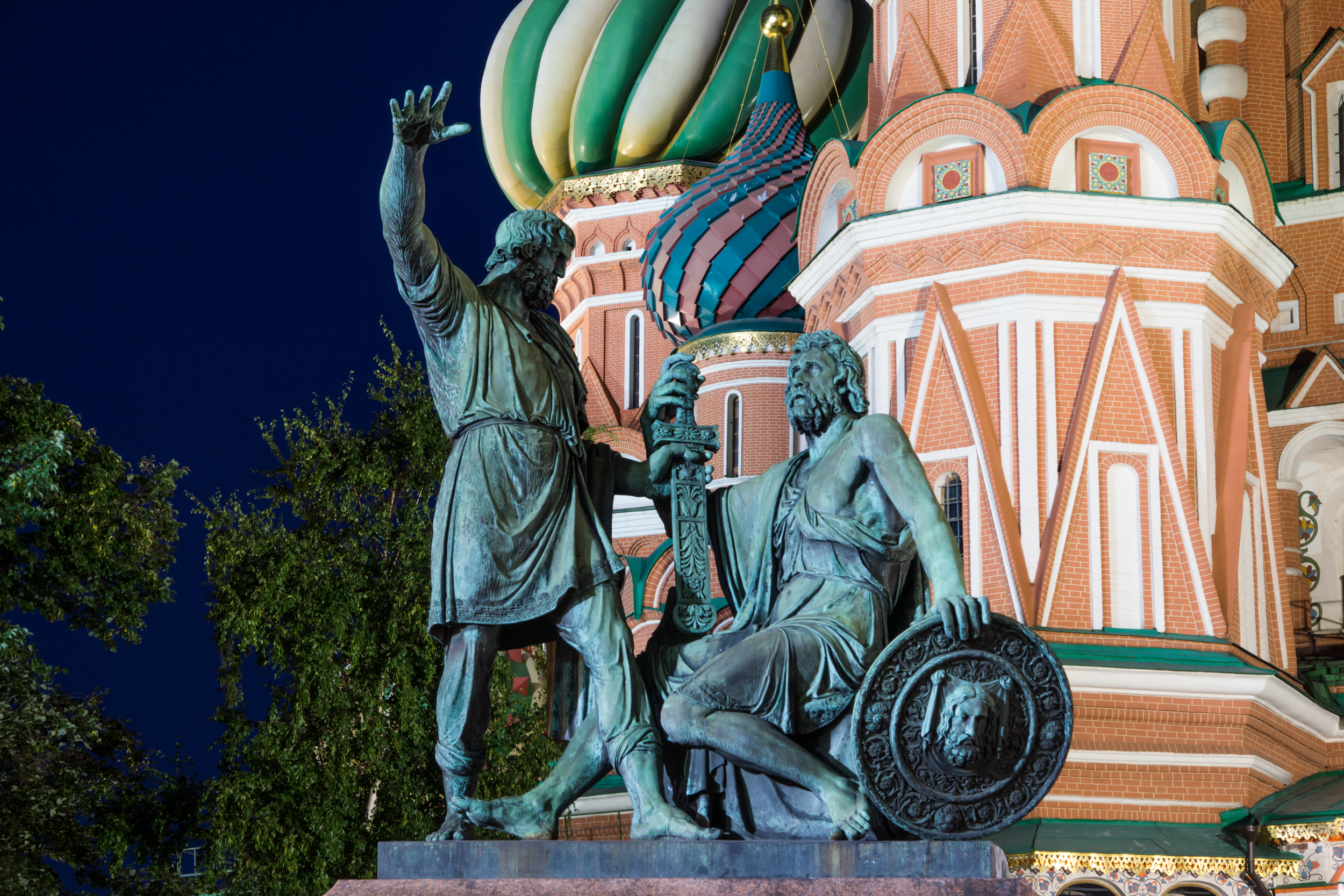 Monument to Minin and Pozharsky in Moscow