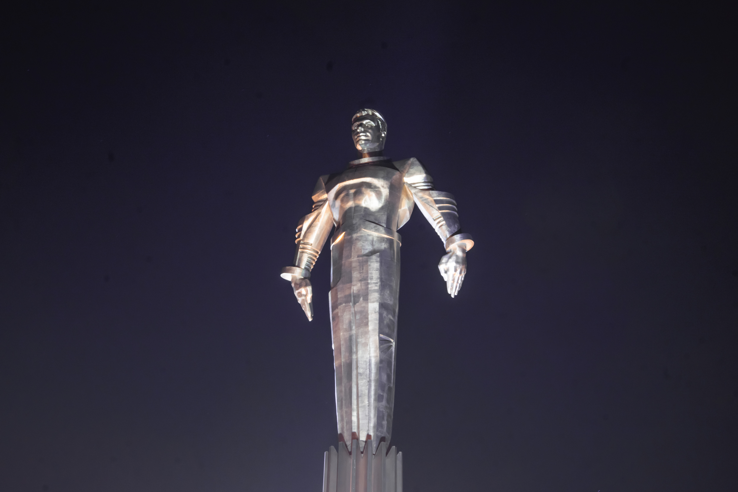 Monument to Gagarin on Leninsky Prospekt