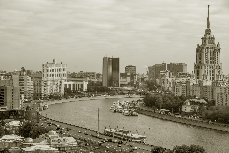 Le paysage urbain de Moscou dans un style rétro
