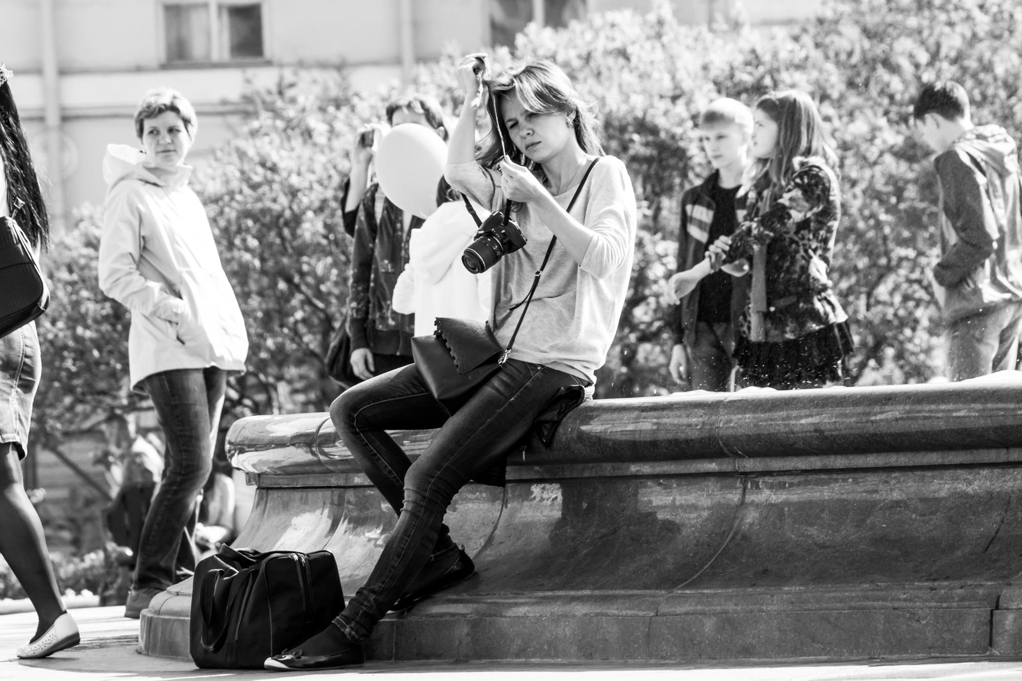 可爱的摄影师