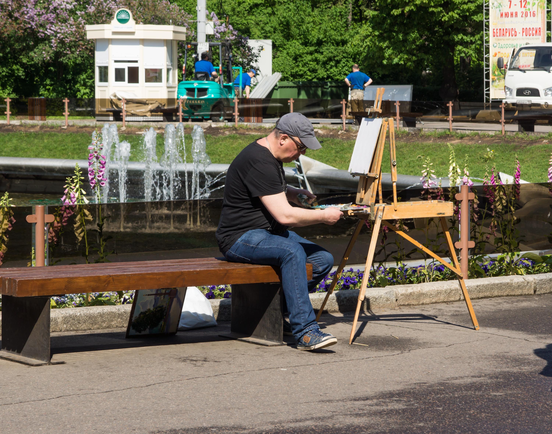 художник в парке Сокольники