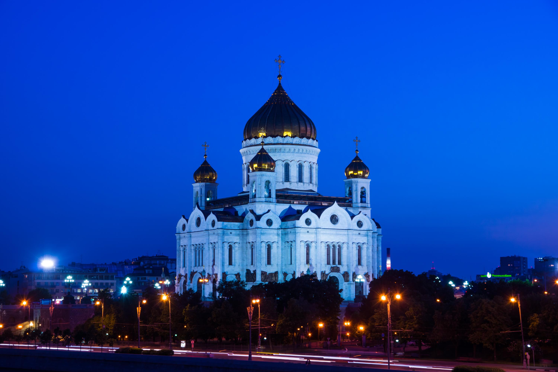 Catedral de Cristo la foto de Salvador-noche