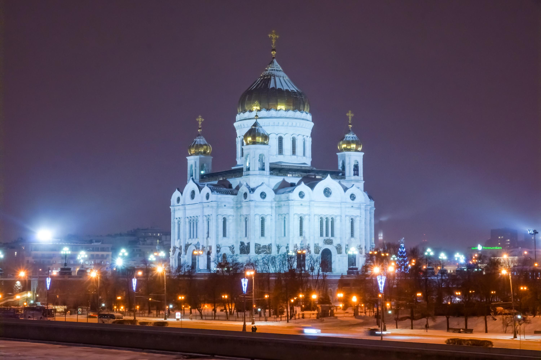 Foto de invierno de la Catedral de Cristo Salvador