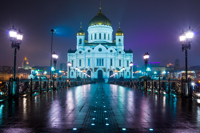 Catedral de Cristo el Salvador, una visión desde el puente de la patriarcal