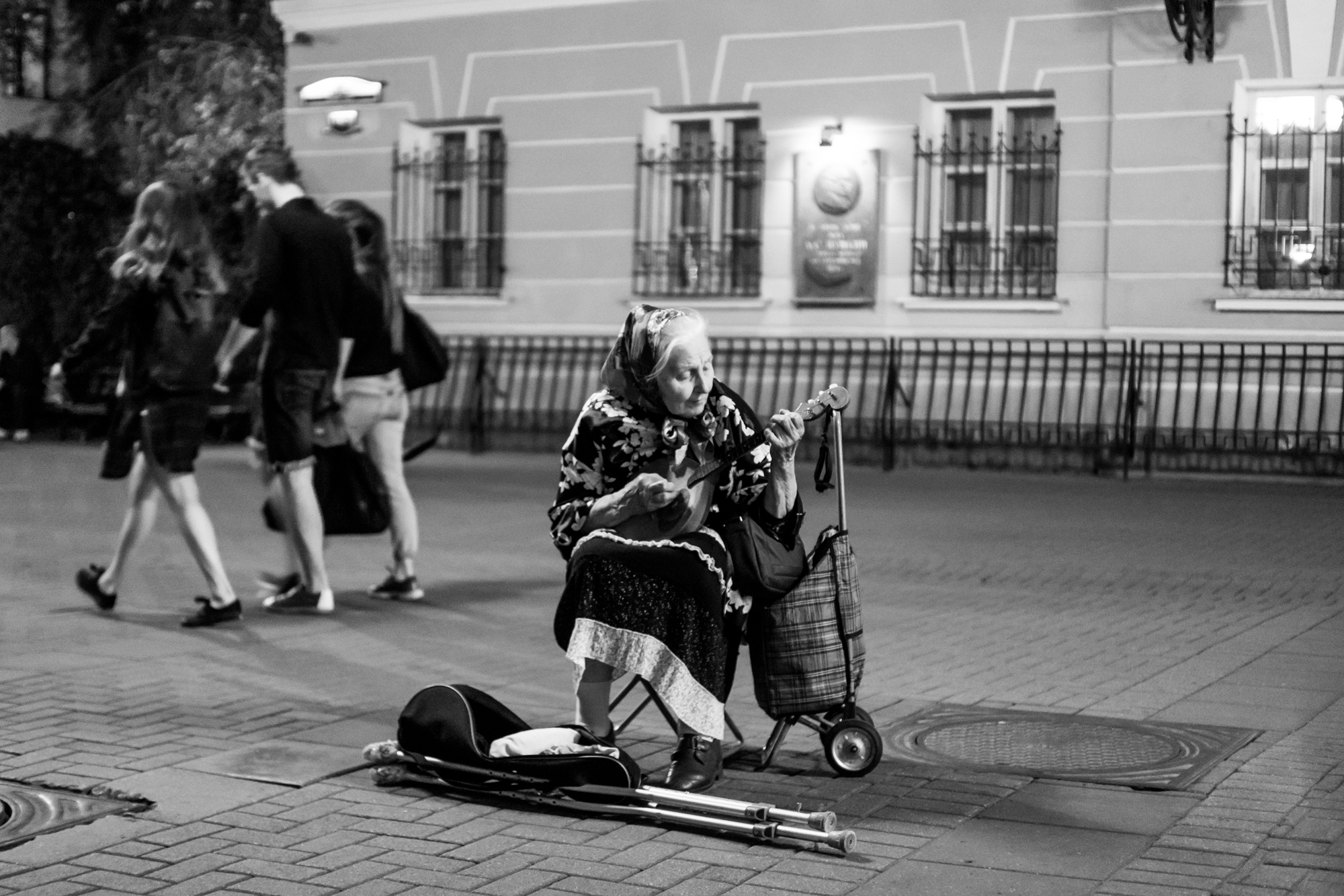 Street musicians on the old Arbat