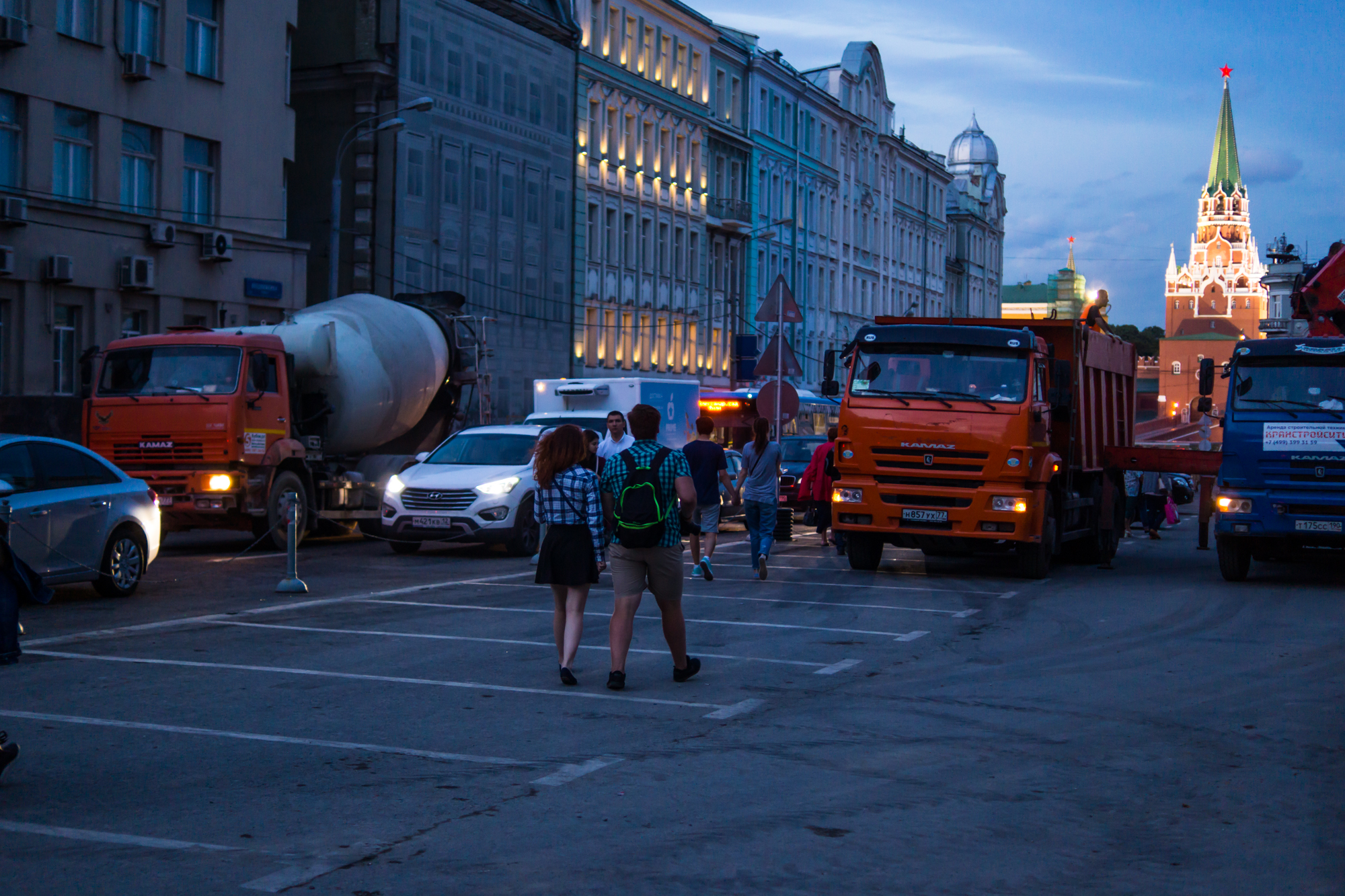 Repairs on the streets of Moscow