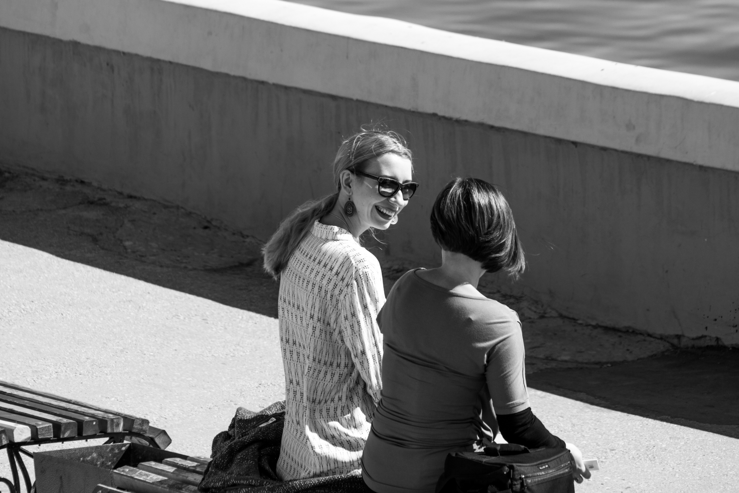 Conversation on the waterfront