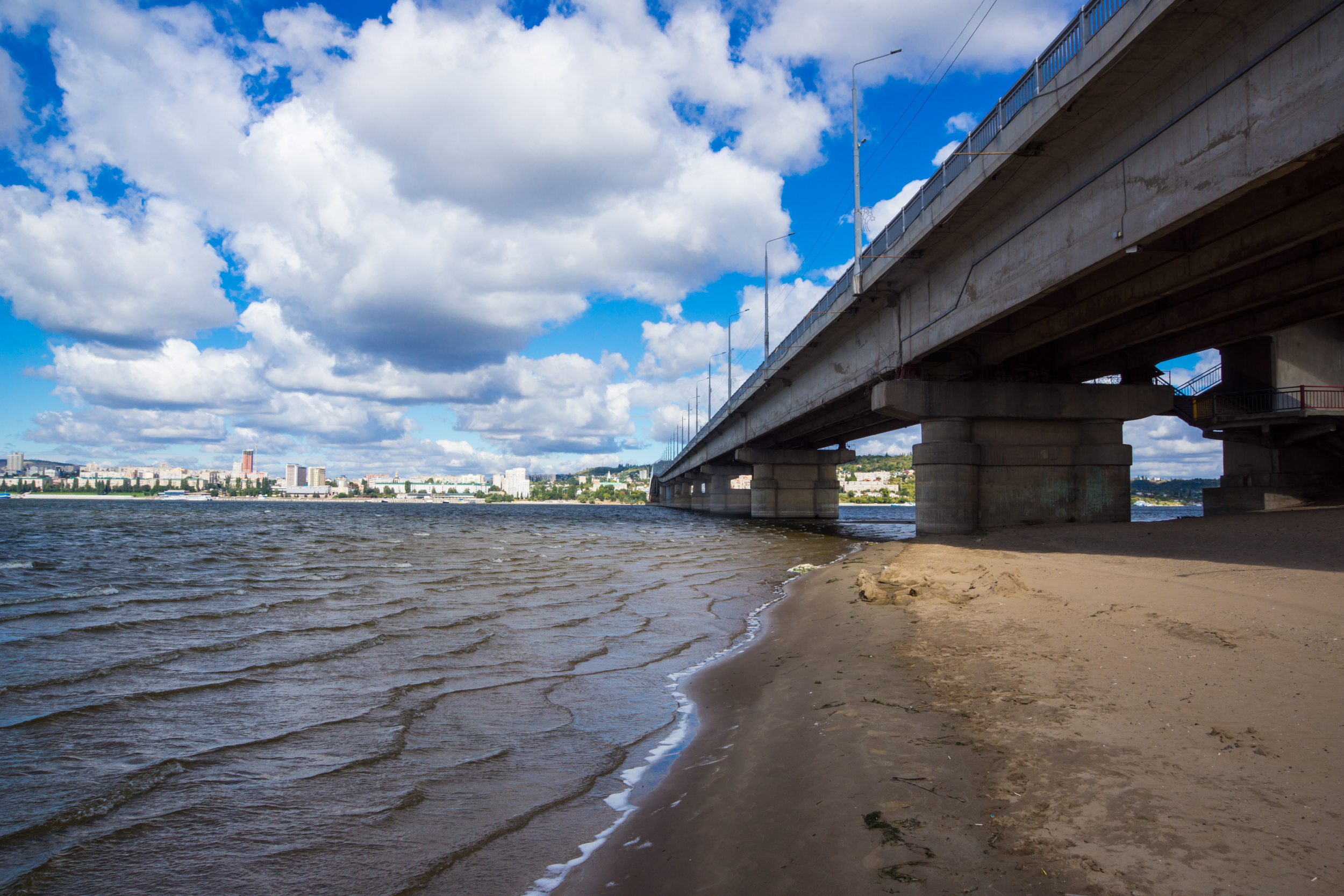 Saratov bridge-view from the beach