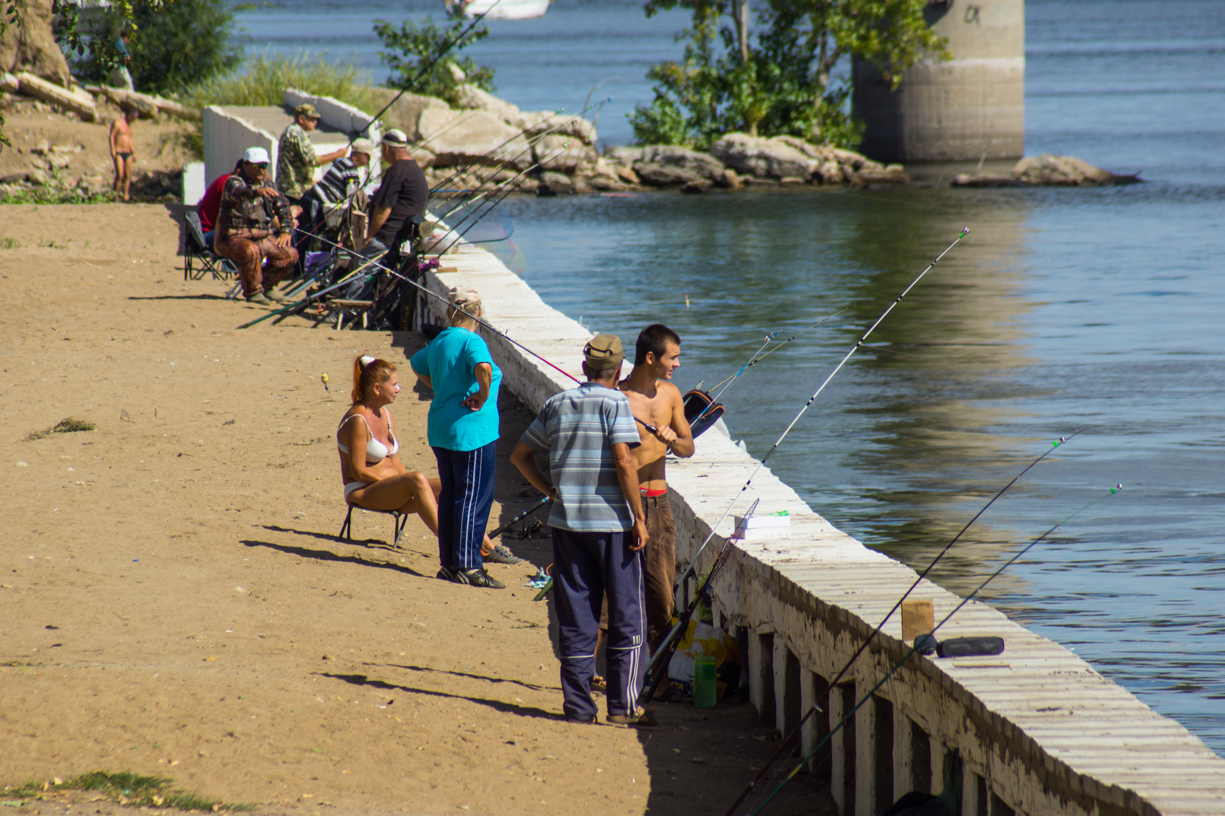 Saratov is famous for fish-fishermen here.