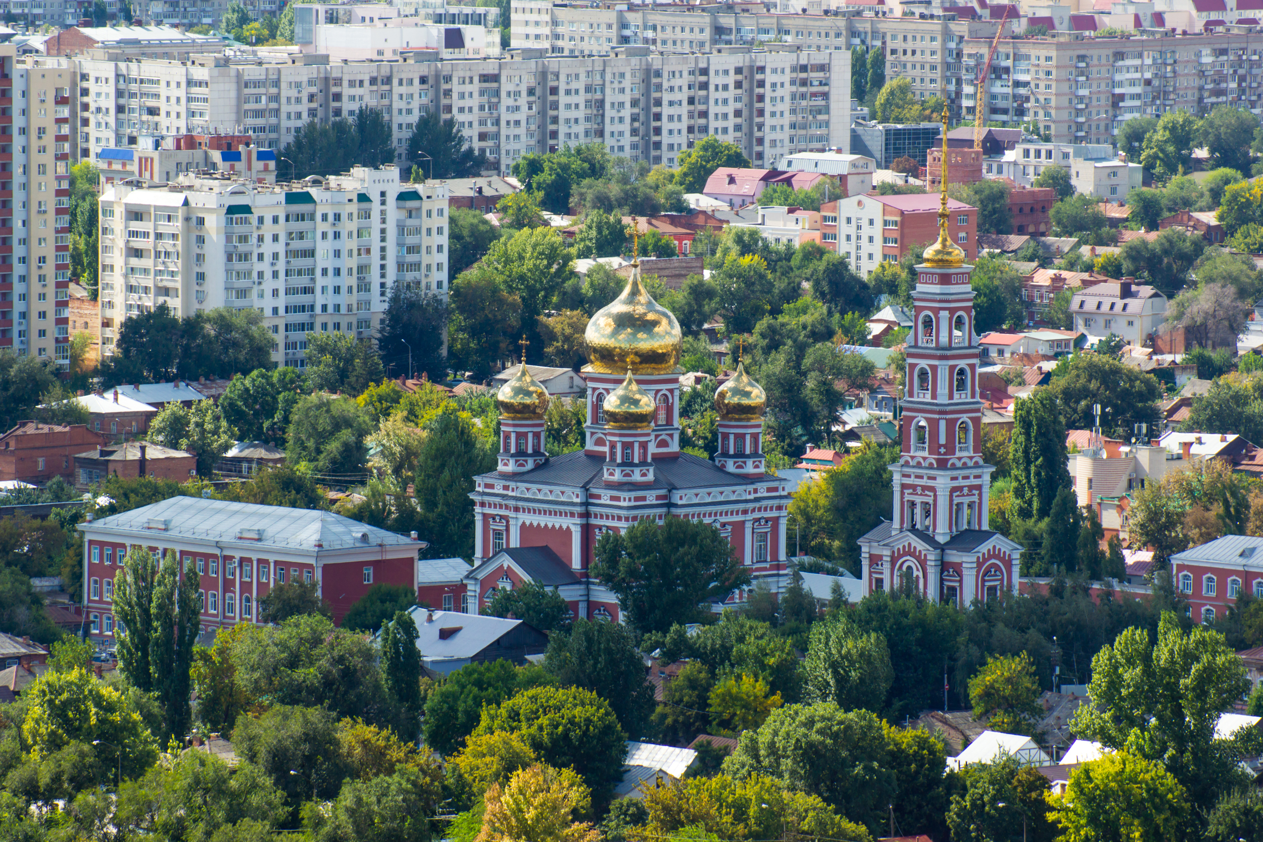 Vista de Saratov con montañas de Sokolova