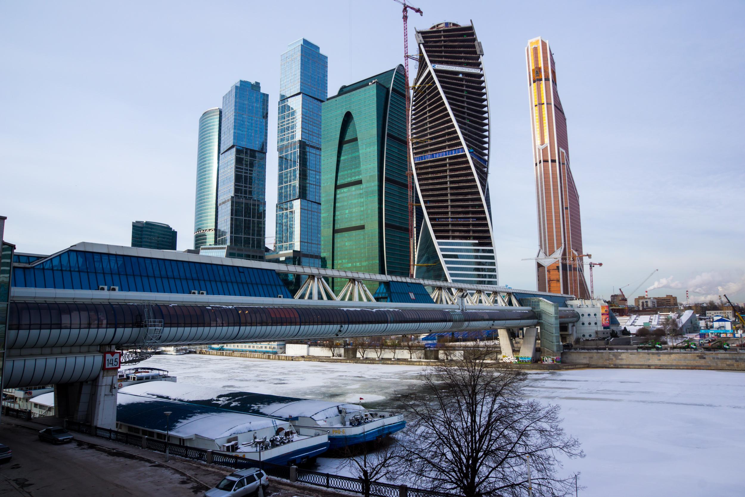 Вид на бизнес-центр Москва Сити
