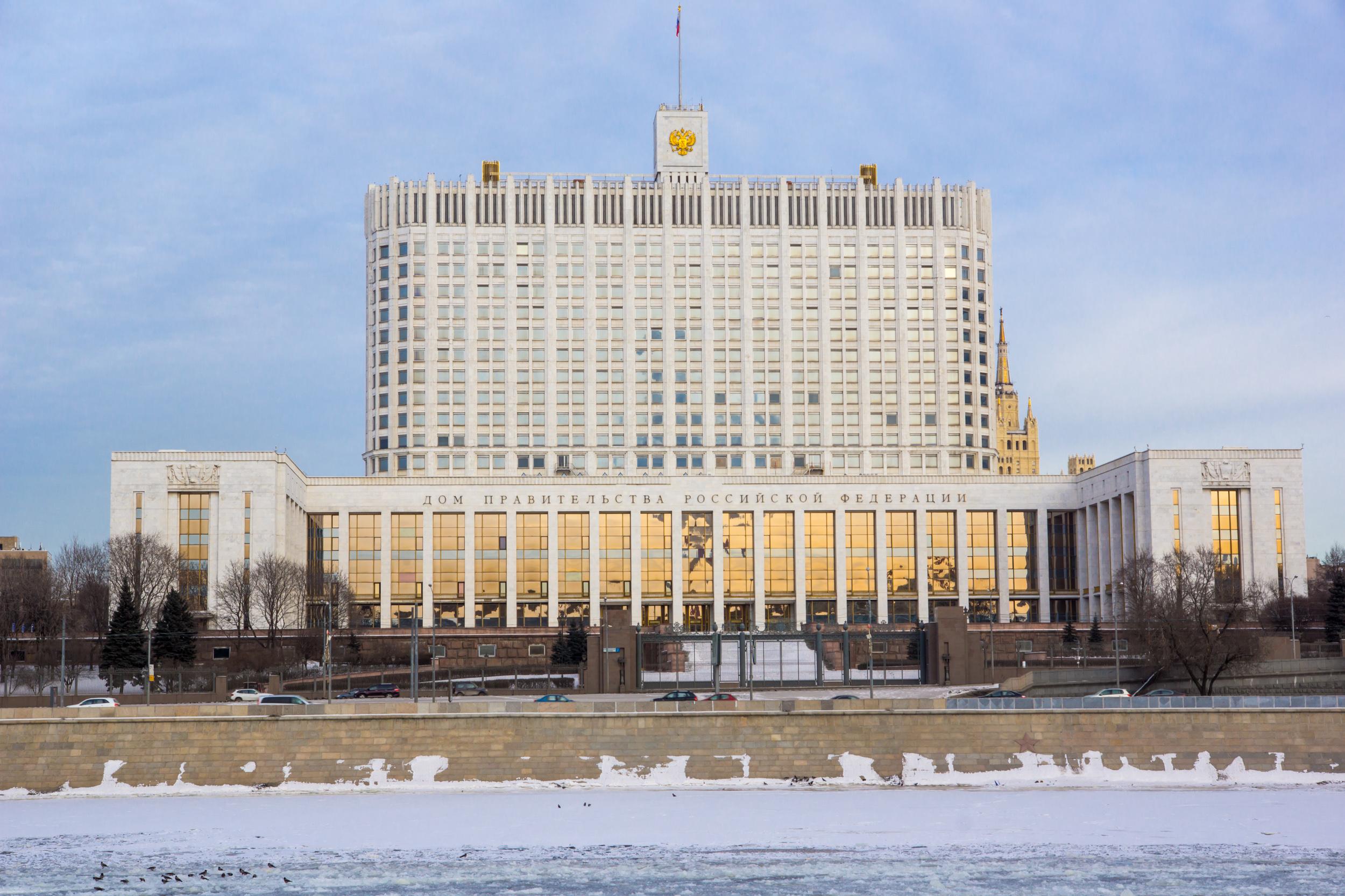 Дом правительства зимой