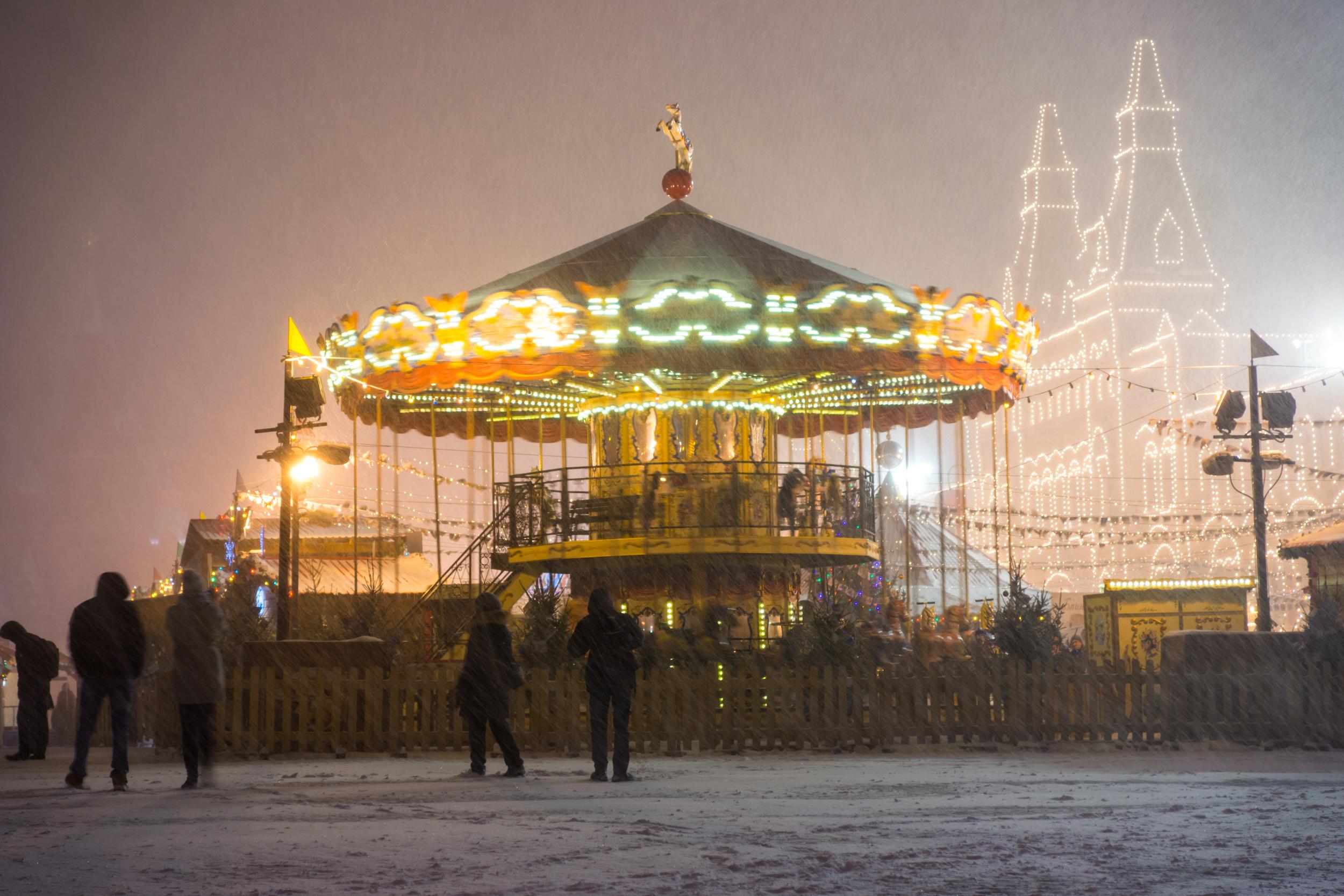 Карусель на Красной площади перед ГУМом