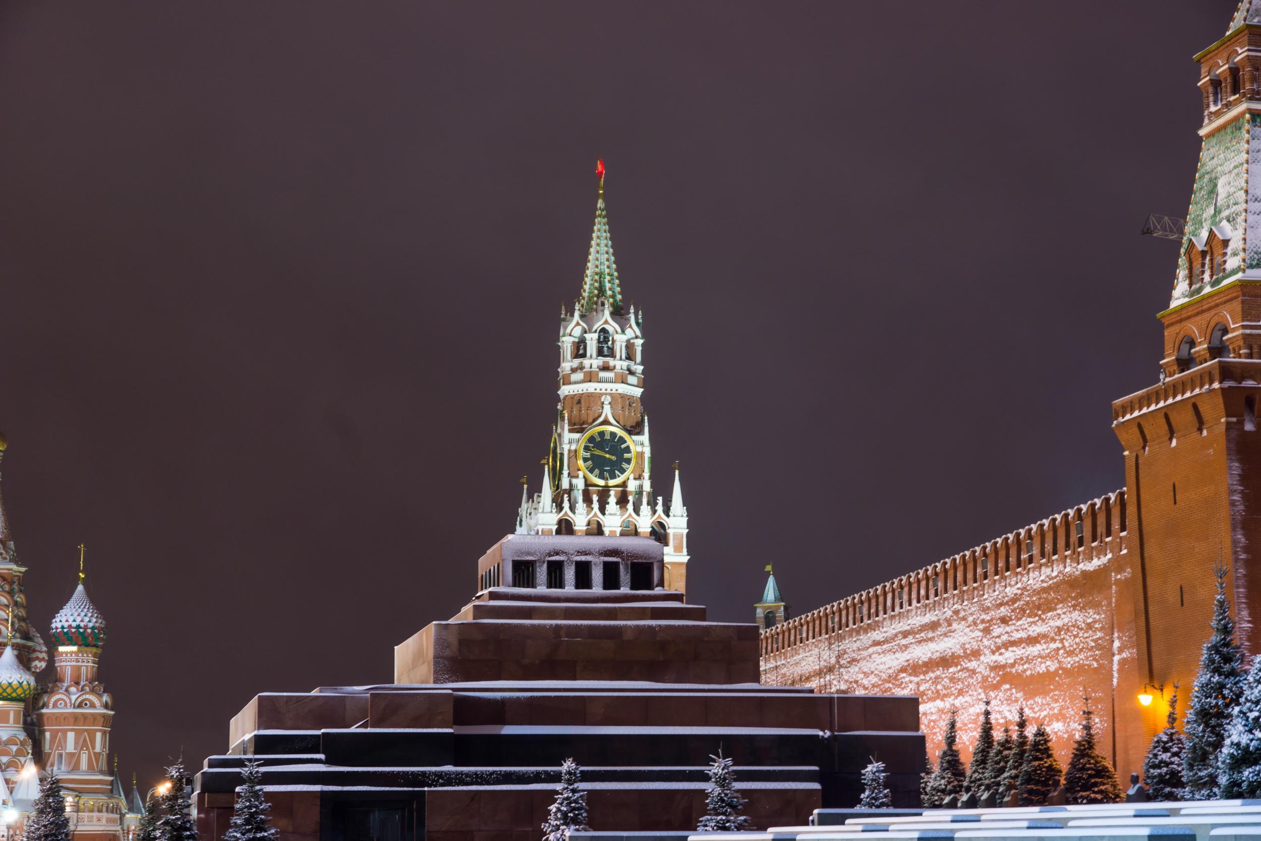 Вид на мавзолей Ленина