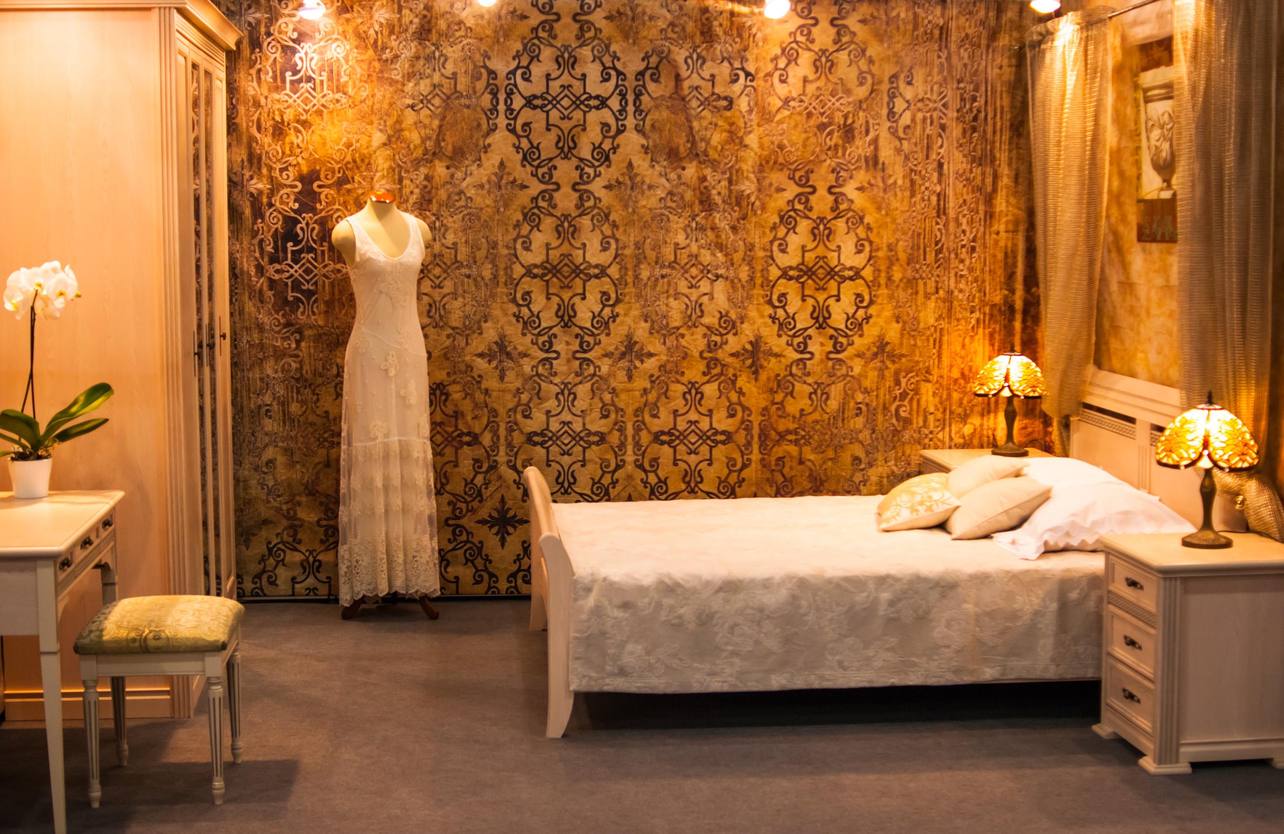 Интерьер спальни - винтажная спальня