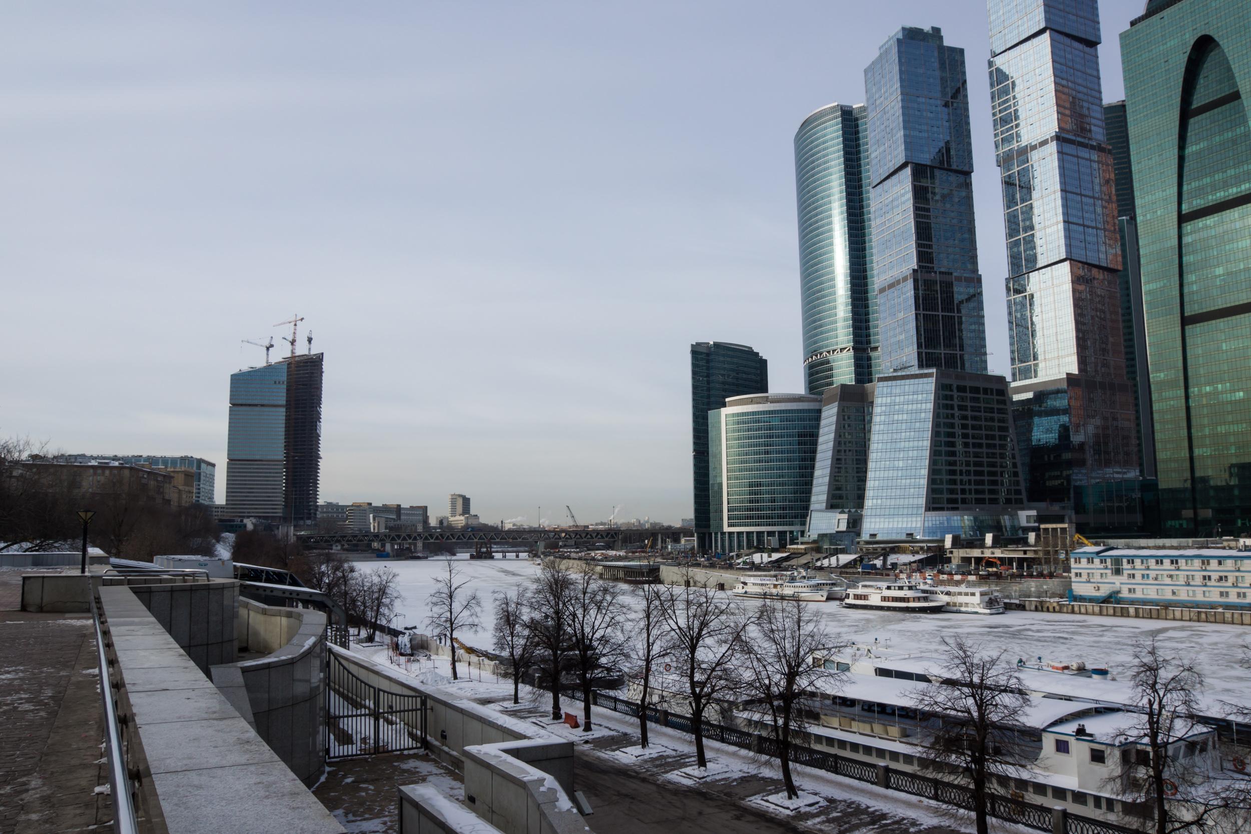Москва Сити зимой