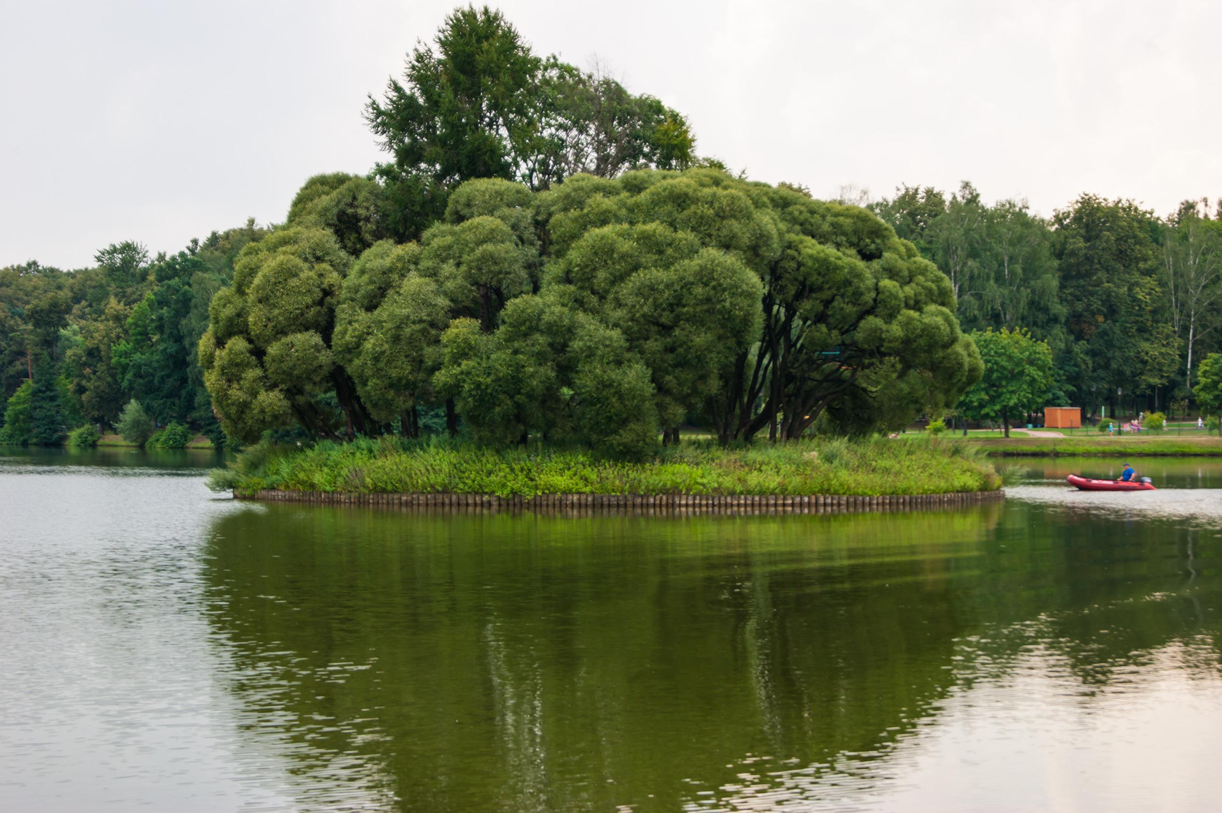 Круглый остров на Верхнем пруду