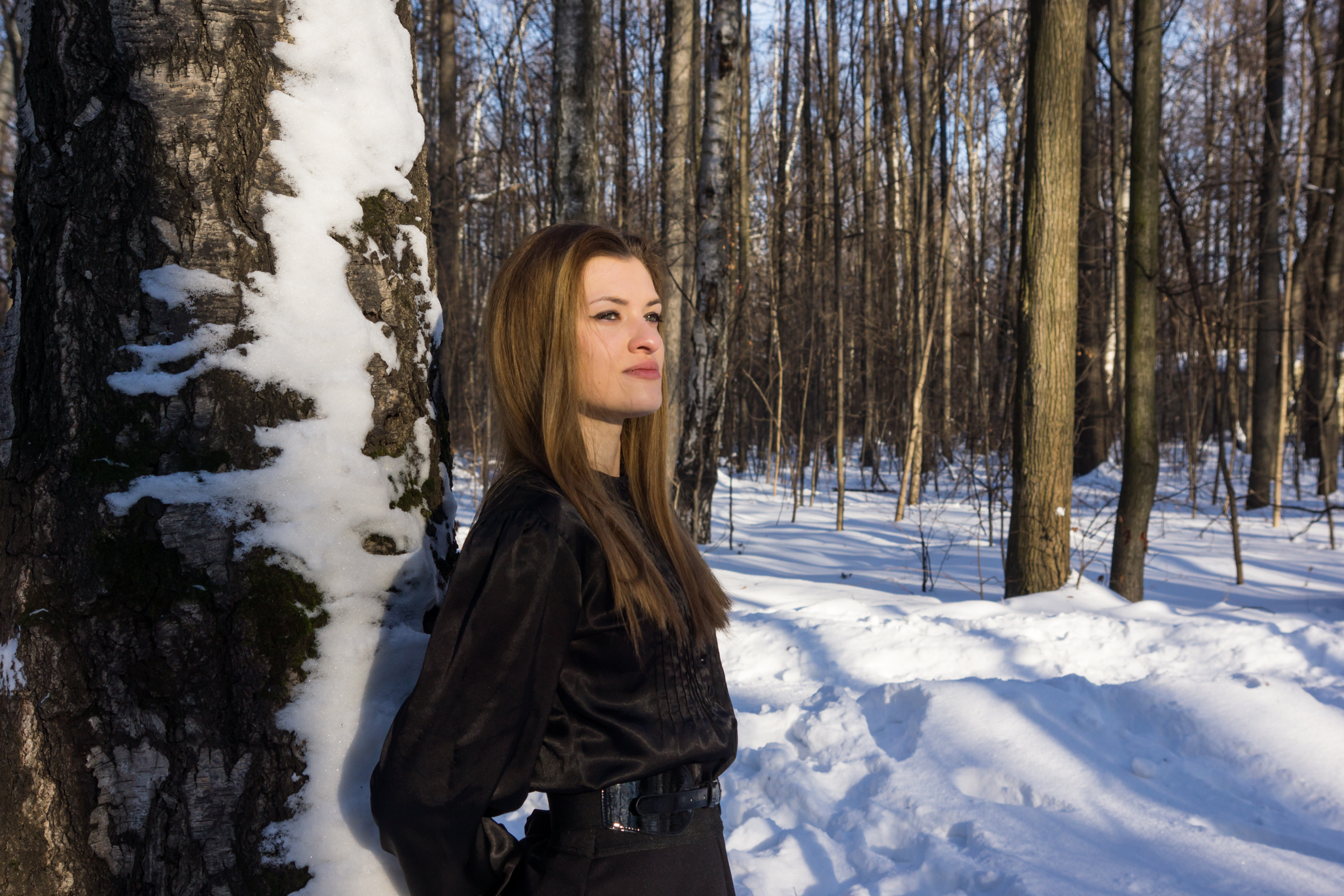 Портрет душки зимой