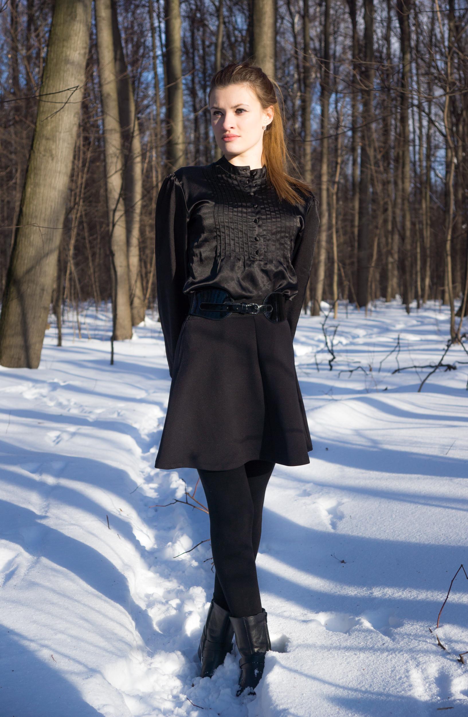 Зимний портрет девушки