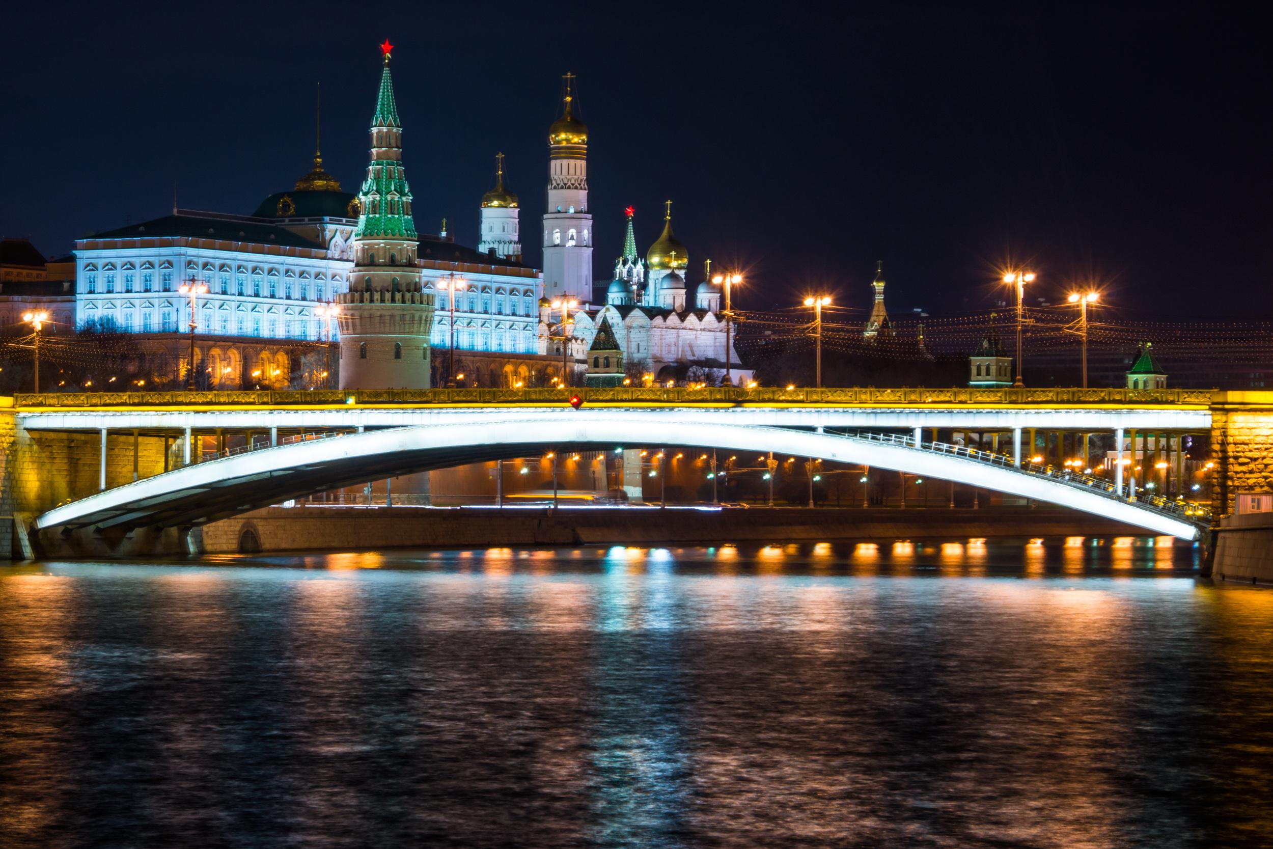 Москва река и Кремль