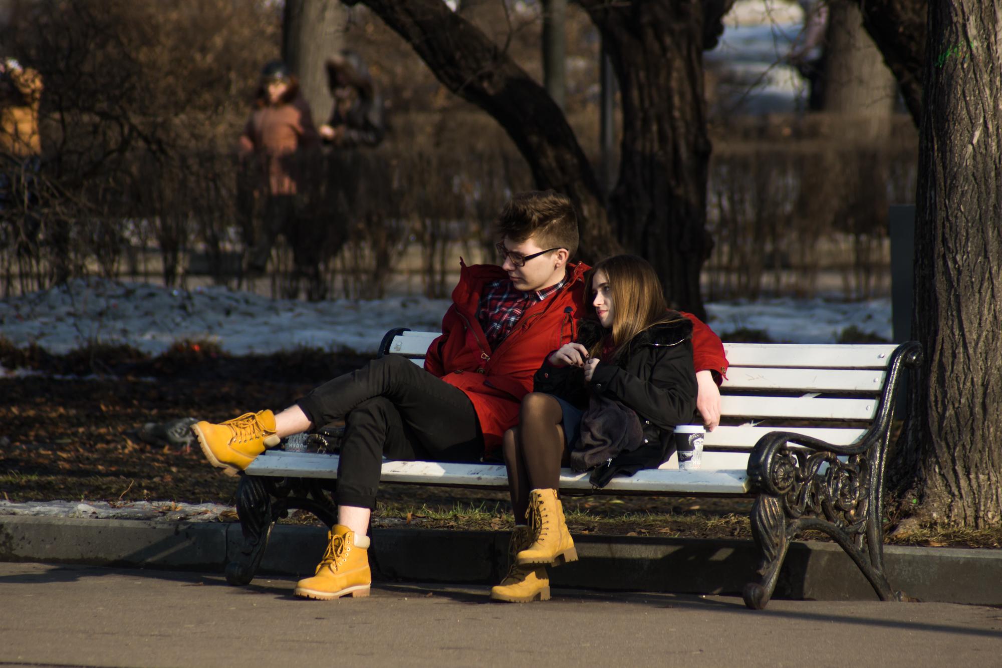 весна в парке имени Горького