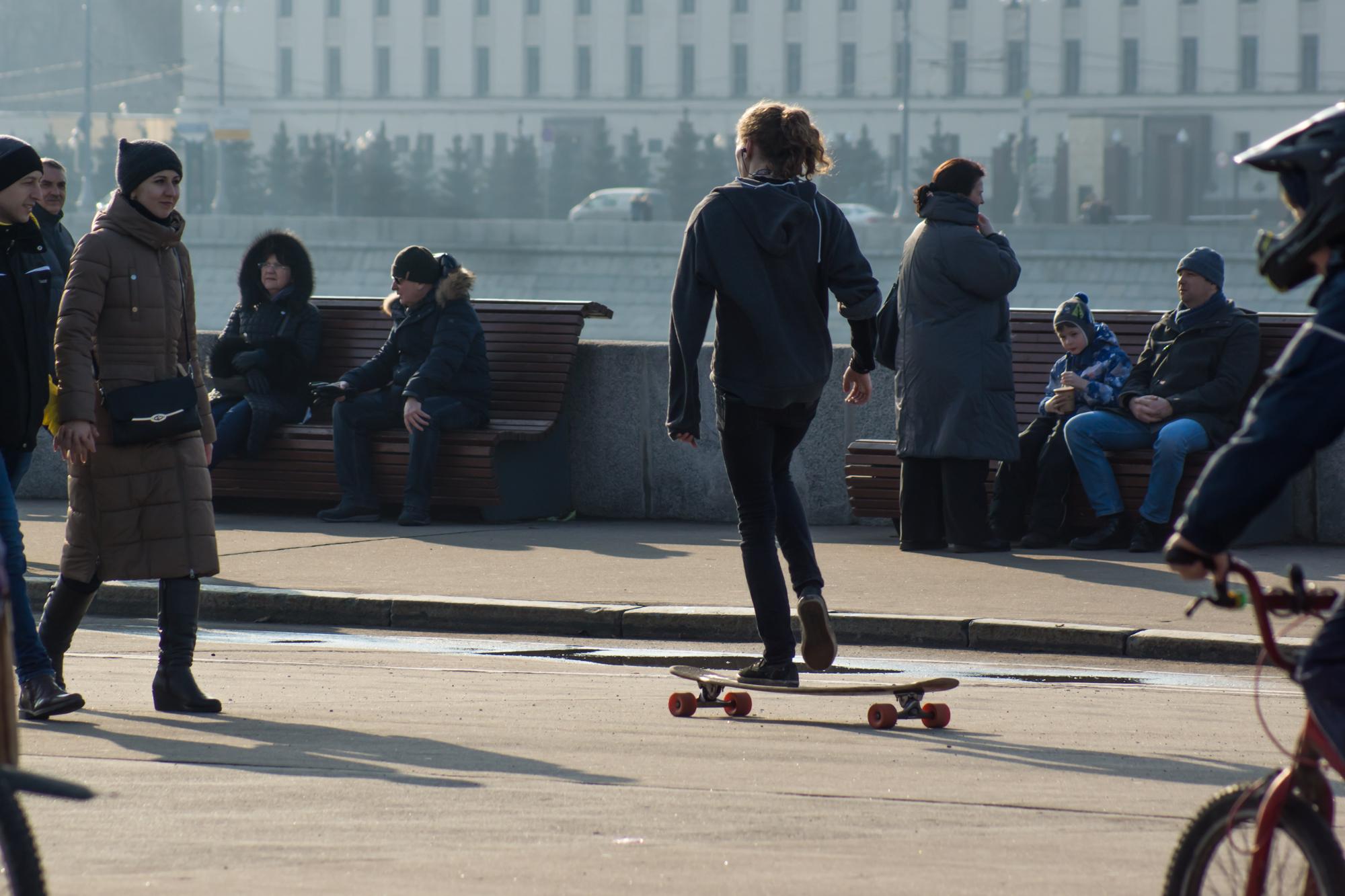 прогулка в парке имени Горького