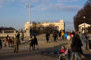 Фото парка имени Горького — весна 2017 год