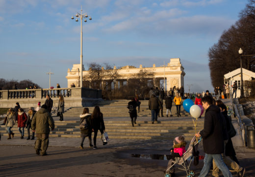 Фото парка имени Горького и видео - весна 2017 год