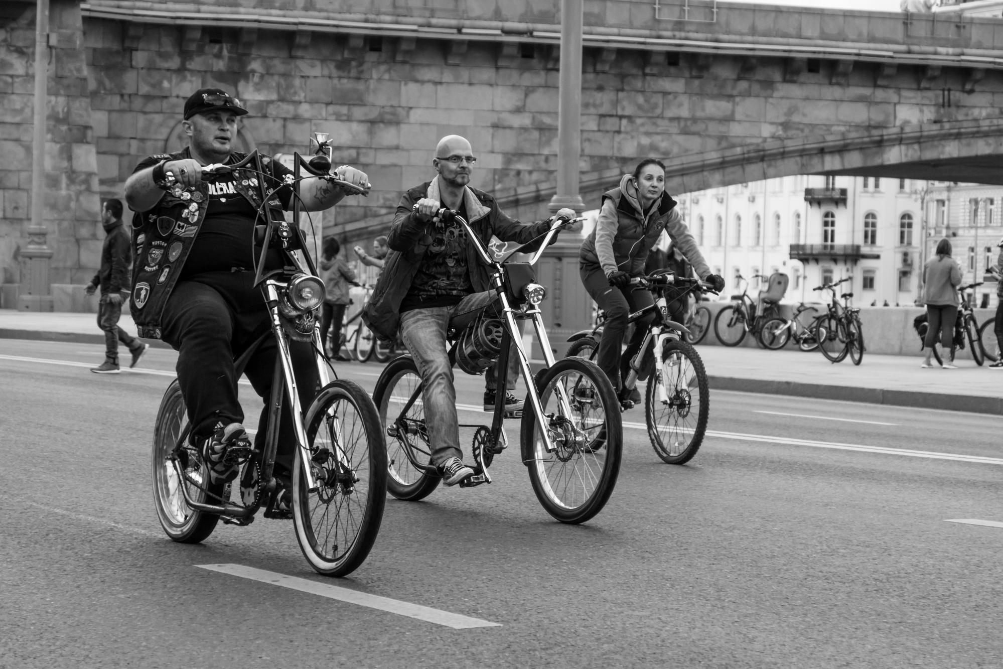 Осенний велопарад в Москве 2017