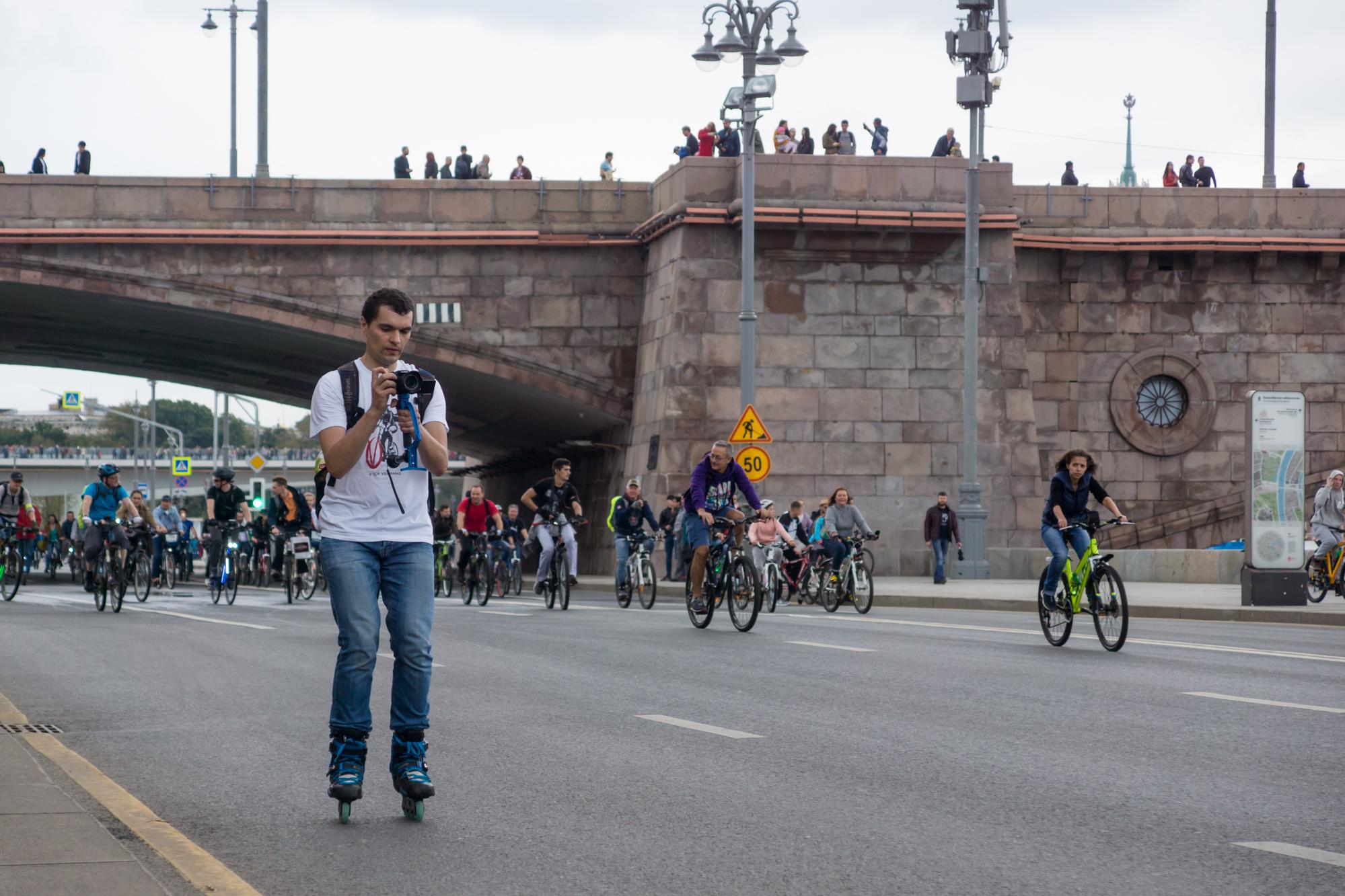 В московский велопараде принимали участие не только велосипедисты