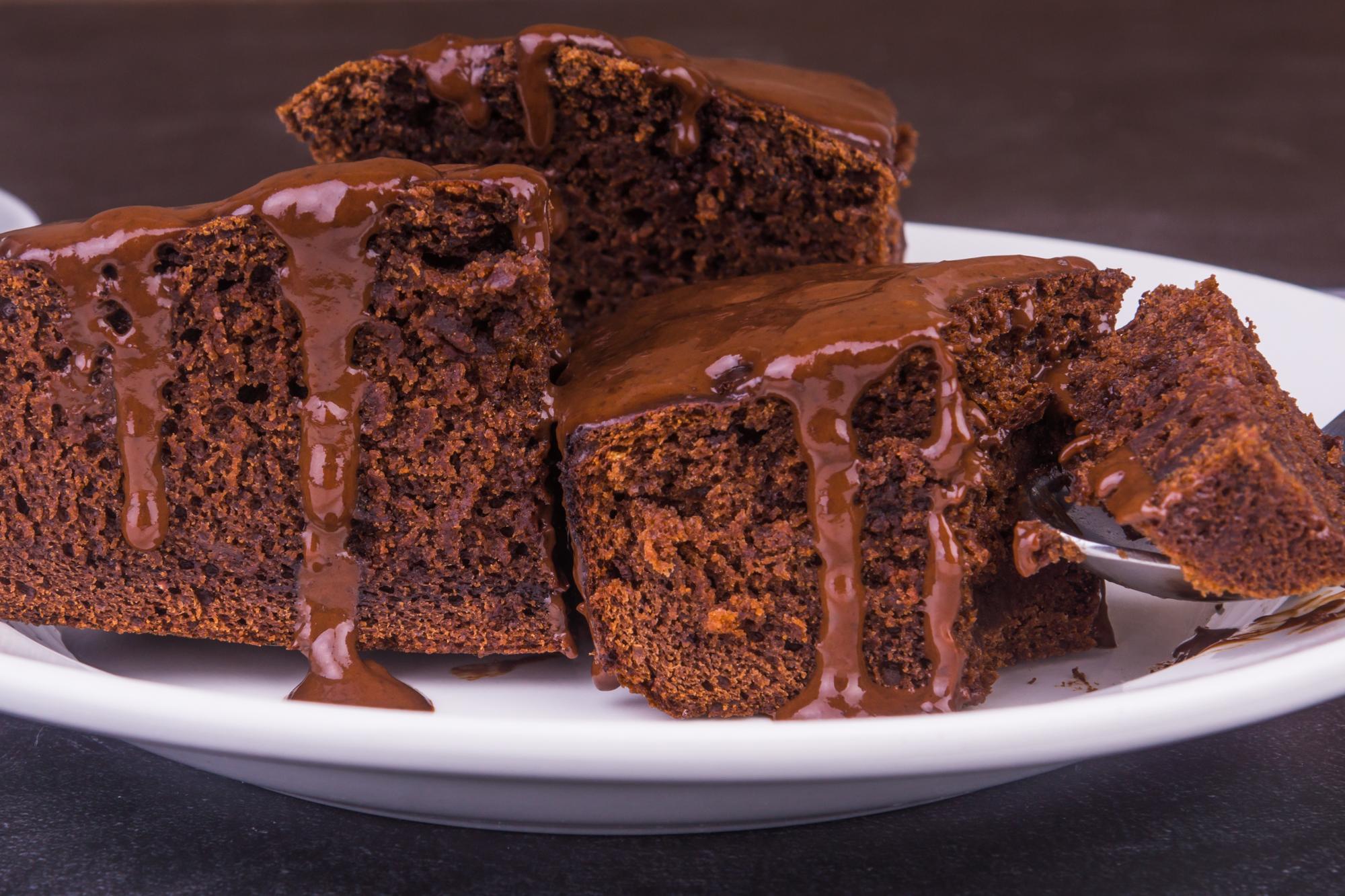 Фото шоколадного кекса