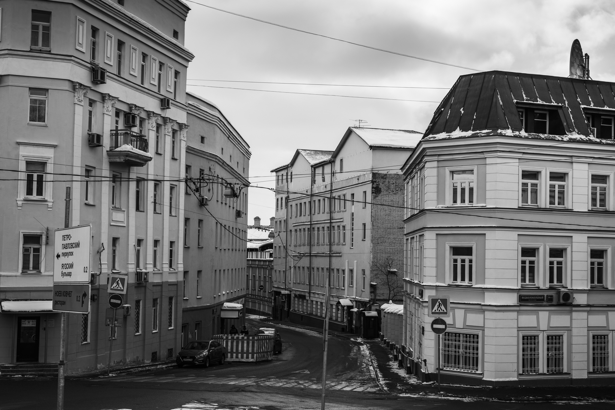 Черно-белая городская фотография