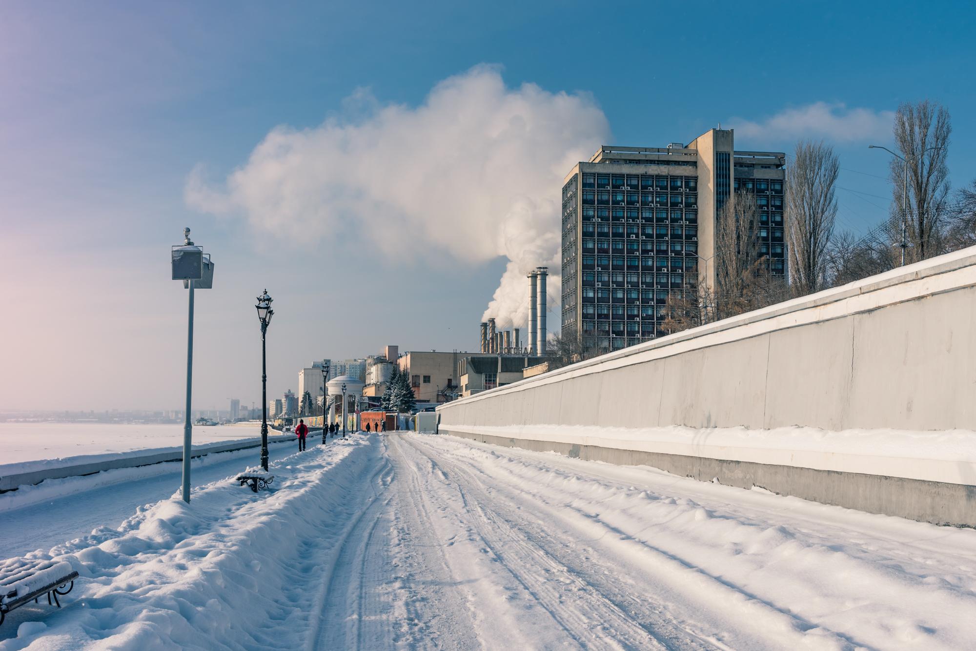Набережная Саратова зимой