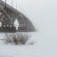 Bridge in the fog – Saratov winter landscape in the early days of spring