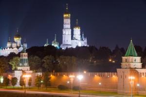 Ночной Кремль - Колокольня Ивана Великого