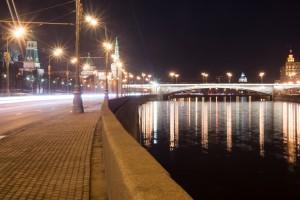 Большой Москворецкий Мост - вид с набережной